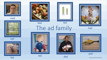 Phonics - The ad family