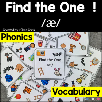 Phonics -  The sound /a/  -  Find the one Game + flashcards
