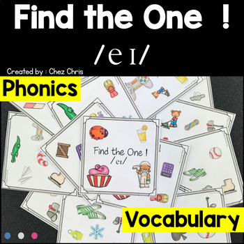 Phonics -  The sound /ei/  -  Find the one Game + flashcards