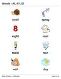 Phonics - Third Grade - AI, AY, and EI Series