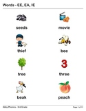 Phonics - Third Grade - EE, EA, and IE Series
