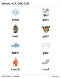Phonics - Third Grade - OA, OW, and OLD Series