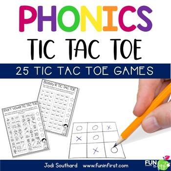 Phonics Tic Tac Toe Games - Distance Learning