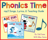 Phonics Time Songs & Book: Short Vowels, Long Vowels, Sight Words & MORE