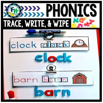Phonics Trace, Write, & Wipe Activity Cards