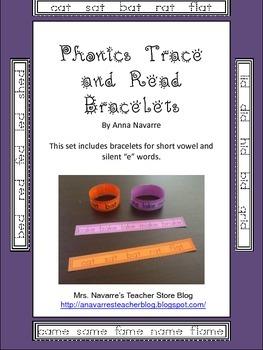 Phonics Trace and Read Bracelets