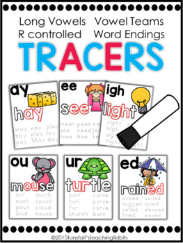 Phonics Tracers Long Vowels, Vowel Teams, R Controlled, and Word Endings