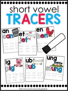 Phonics Tracers Short Vowels