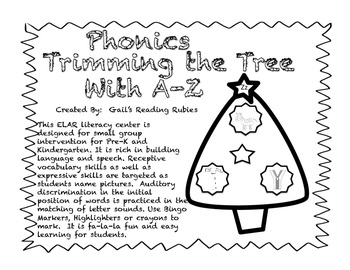Phonics: Trimming the Tree with A_Z