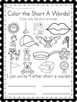Phonics Unit 1 Alphabet Sequencing, Short Vowels, and CVC Words