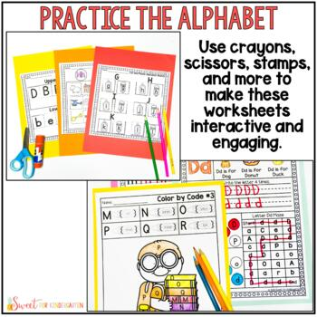 Letter Recognition and Sounds Worksheets