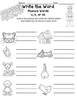 Phonics Intervention Word Work or Spelling Unit Digraphs sh, th, ch, wh, ck