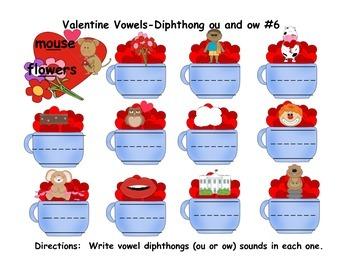 Phonics Valentine Vowels