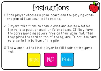 Grammar Verb Tense Game
