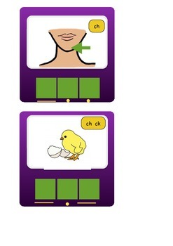 Phonics Visuals Phase 3-5c with sound buttons and sounds.