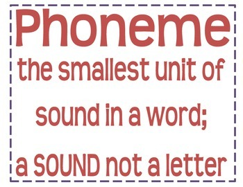 Phonics Vocabulary Posters