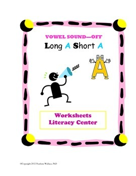 Kindergarten, First Grade Vowels, Phonics & Literacy Fun