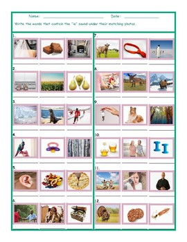 Phonics Vowel Team IE Photo Worksheet