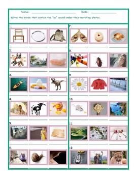 Phonics Vowel Team OA Photo Worksheet