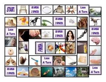 Phonics Vowel Teams ai-ay-oa-oe-ou-au Photo Board Game