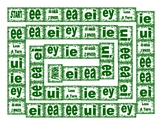 Phonics Vowel Teams ee-ea-ei-ey-ie-ui Text Board Game