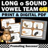 oa Long Vowel Activities, Phonics Task Cards, Long Vowel Team