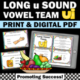 ui Long Vowel Activities & Games with Task Cards, Phonics Centers