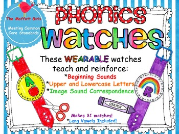 Alphabet (Phonics) Watches!