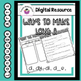 Phonics Ways to Make Long A Distance Learning Google Classroom