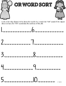 """Phonics( We're off to see the Great """"OR""""!)"""