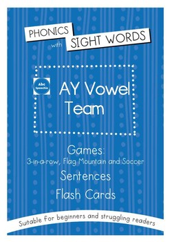 Phonics With Sightwords AY Vowel Team Bundle
