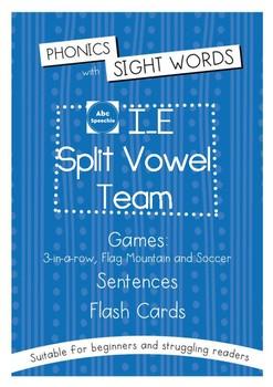 Phonics With Sightwords I_E Split Vowel Team Bundle