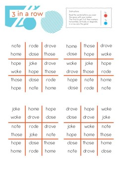 Phonics With Sightwords O_E Split Vowel Team Bundle