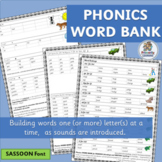 Phonics Word Bank supports Jolly Phonics | SASSOON Font