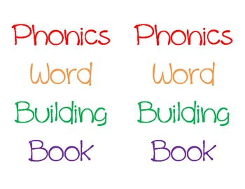 Phonics Word Building Book cover