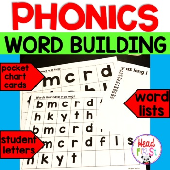 Phonics Word Building | Word Families | Letter Cards