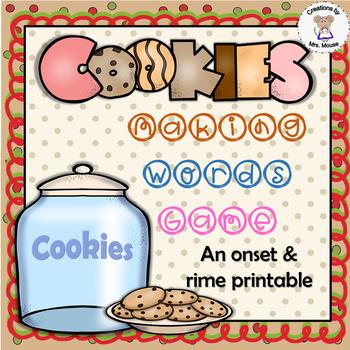 Word Families - Cookies Making Words Game