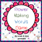 Word Families - Flowers Making Words Game