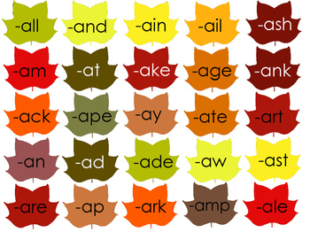 Phonics- Word Families - Leaves Making Words Game