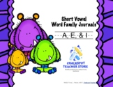 Word Sort Journals: Short A, E, & I (CCSS Aligned)
