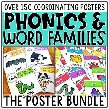 Phonics & Word Family Posters Bundle
