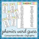 Phonics Word Guess: Consonant Blends & Digraphs