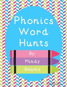 Phonics Word Hunts - All Skills Included