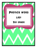 Phonics Word List-First Grade
