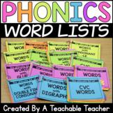 Phonics Word Lists
