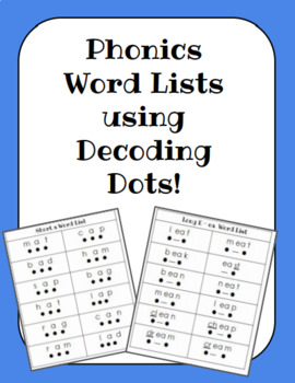 Phonics Word Lists for Decoding