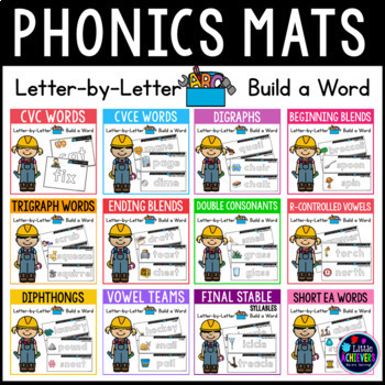 Phonics Word Mats | Build a Word | Word Building With Magnetic Letters