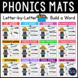 Phonics Center Activities| Word Building Mats Magnetic Letters Activities BUNDLE