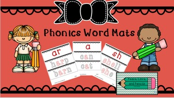 Phonics Word Mats Bundle