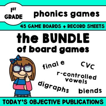Phonics Word Race Game Bundle